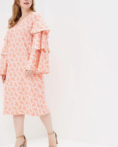 Летнее платье коралловый красный Matilda