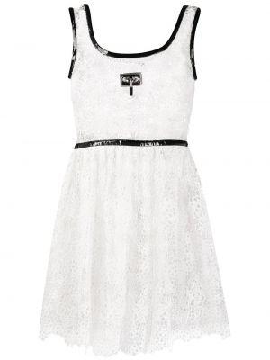 Sukienka mini bawełniana - biała Christopher Kane