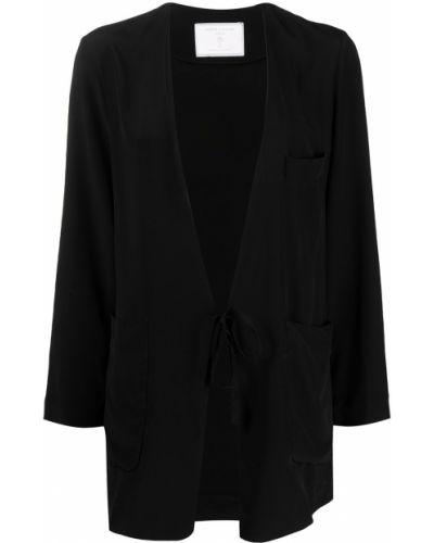 Шелковый с рукавами черный удлиненный пиджак SociÉtÉ Anonyme