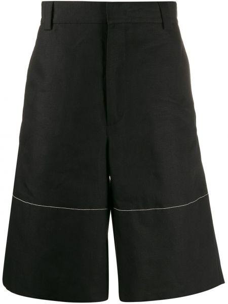Черные шорты с карманами Jil Sander