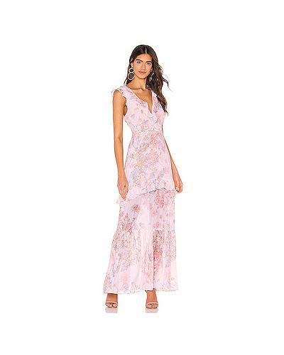 Платье макси розовое на молнии Bcbgeneration
