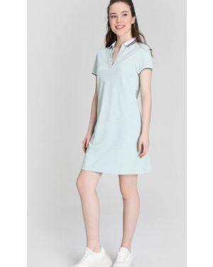Платье с V-образным вырезом с воротником Ostin