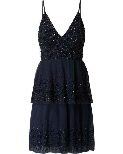 Sukienka koktajlowa rozkloszowana koronkowa tiulowa Lace & Beads