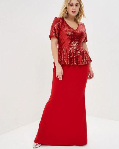 Вечернее платье красный Goddiva Size Plus