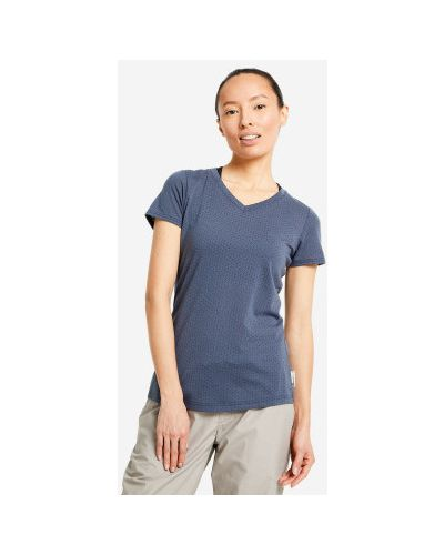 Прямая хлопковая синяя футболка Outventure