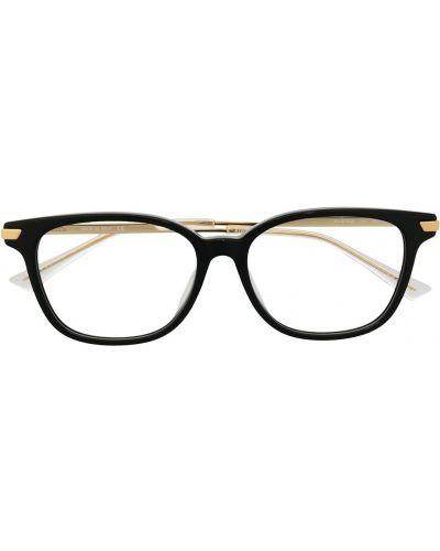 Золотистые желтые очки металлические прозрачные Bottega Veneta Eyewear