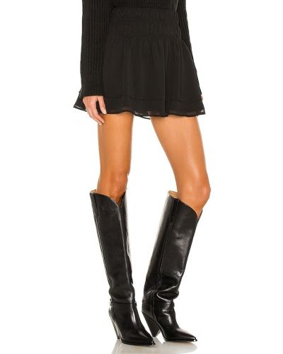 Włókienniczy czarny spódnica z haftem prążkowany Tularosa