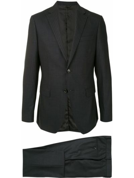 Серый однобортный приталенный костюмный костюм классический D'urban