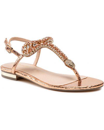 Złote sandały Menbur