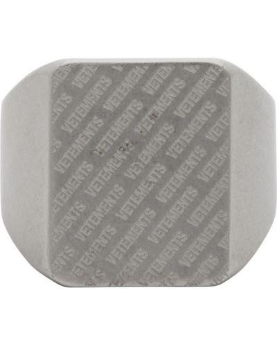 Серебряное кольцо матовое Vetements