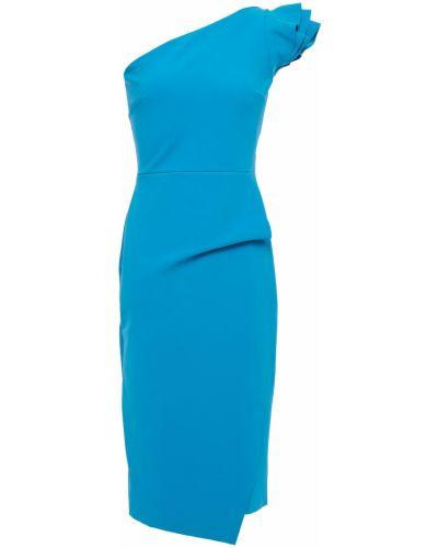Платье с запахом - синее Chiara Boni La Petite Robe