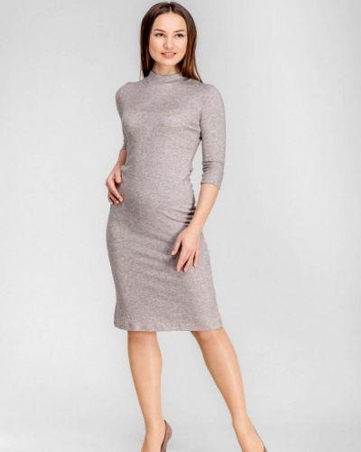 Платье осеннее бежевое Dressinjoy By Lipashova & Malko