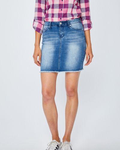 Юбка мини облегающая джинсовая Only