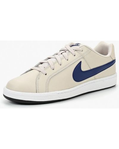 Бежевые низкие кеды Nike
