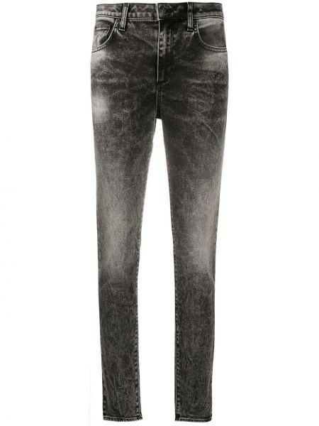 Хлопковые зауженные черные джинсы-скинни стрейч Department 5