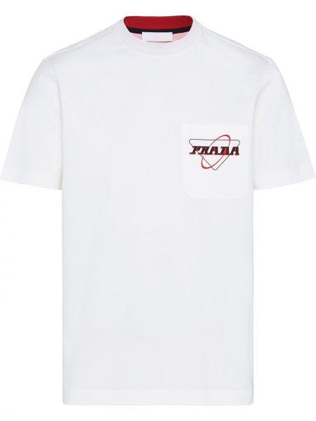 Koszula krótkie z krótkim rękawem prosto długa Prada