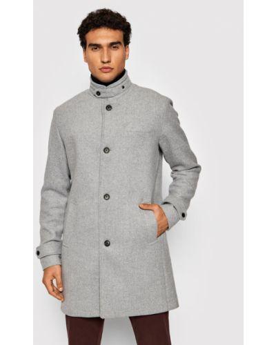 Płaszcz wełniany - szary Jack&jones