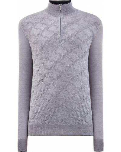 Кашемировый серый джемпер на молнии Bertolo Cashmere