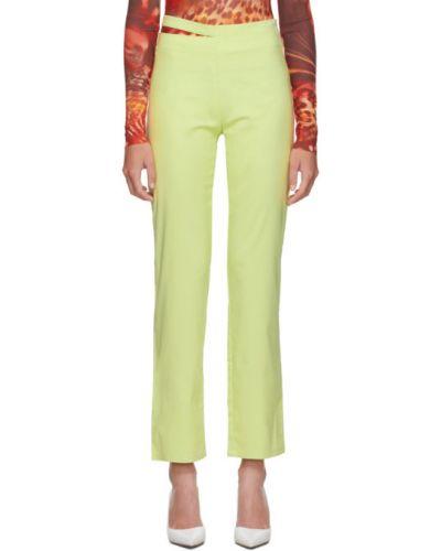Прямые брюки стрейч с воротником с вышивкой Miaou
