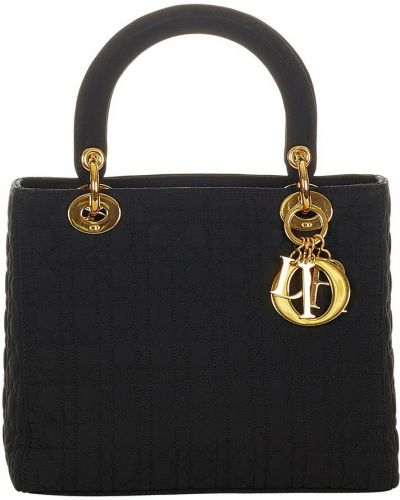 Czarna torebka z nylonu Dior Vintage