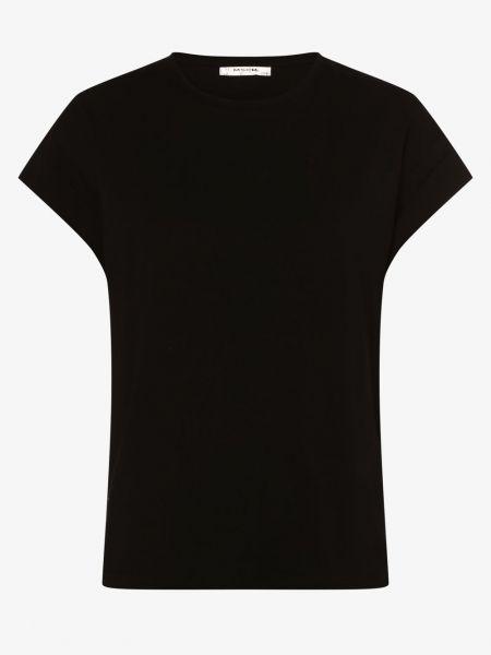 Czarna koszulka bawełniana Moss Copenhagen