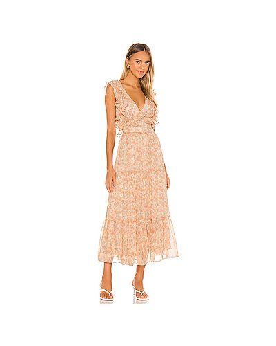 Платье с оборками Bardot