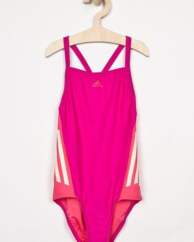 Слитный купальник розовый эластичный Adidas Performance