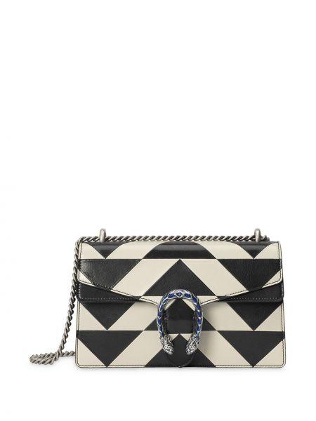 Biały torebka na łańcuszku z łatami metal z kieszeniami Gucci