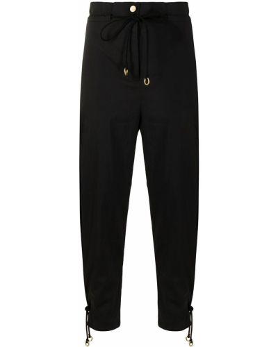 Зауженные черные брюки с поясом Manning Cartell