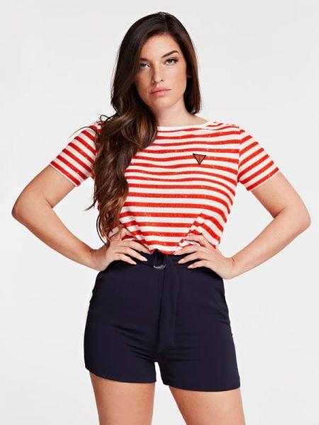 Bluzka z wiskozy - czerwona Guess