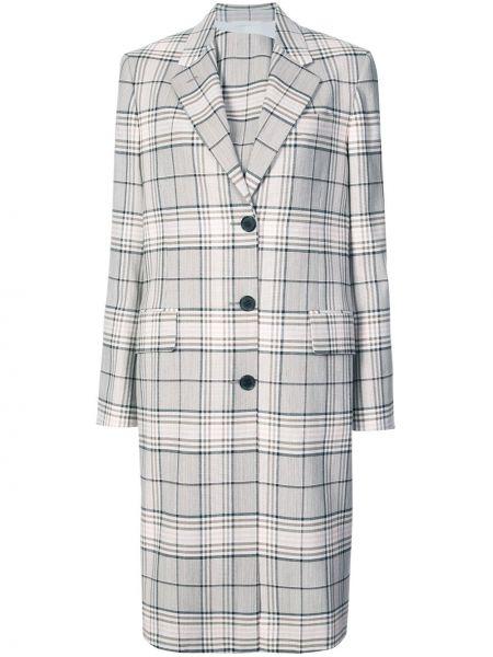 Однобортное шерстяное длинное пальто с капюшоном Calvin Klein 205w39nyc