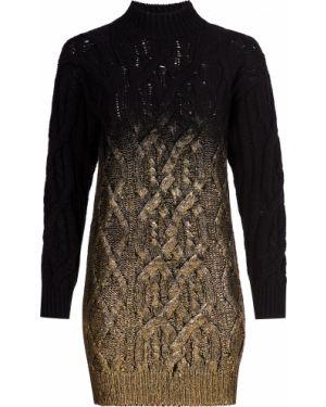 Акриловое платье золотое Pinko
