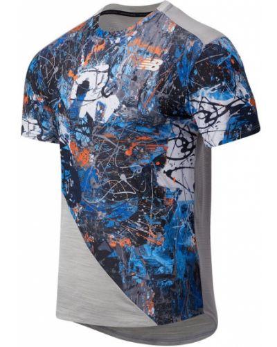 Тренировочная синяя футболка эластичная New Balance