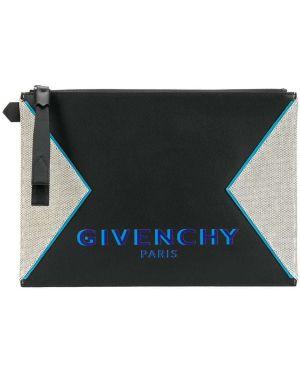 Torba sprzęgło skórzany czarny Givenchy