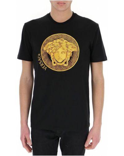 T-shirt z haftem Versace