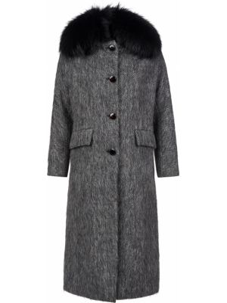 Шерстяное пальто - серое Diego M