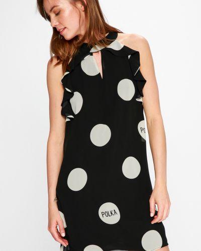 Платье мини прямое с оборками Sh