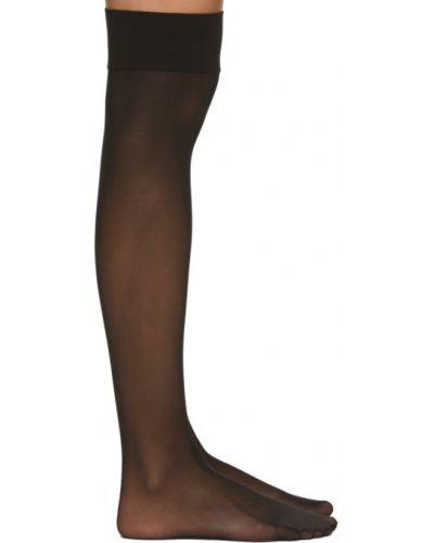 Czarne pończochy z nylonu Wolford
