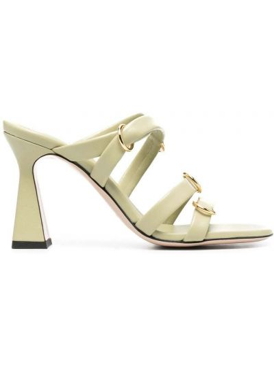 Открытые кожаные сандалии на каблуке Wandler