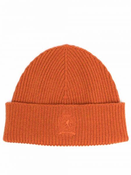Шерстяная шапка бини - оранжевая Tommy Hilfiger