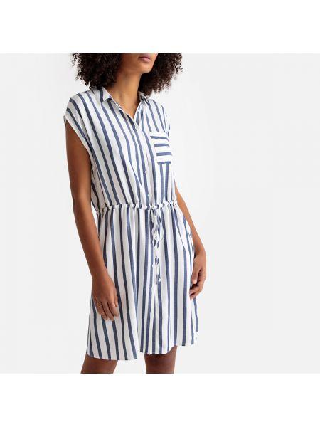 Прямое платье миди с воротником с рисунком без рукавов Sud Express