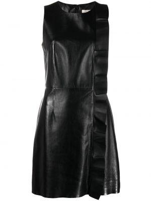Прямое шелковое черное платье Yves Salomon