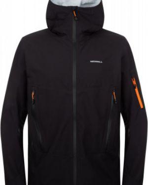 Прямая черная куртка с капюшоном на молнии туристическая Merrell