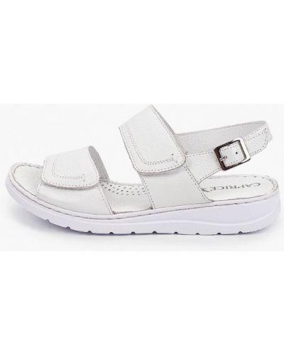 Белые кожаные сандалии Caprice