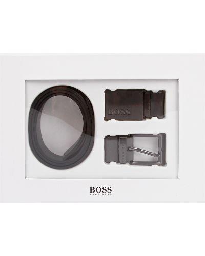 Черный ремень с пряжкой Hugo Boss