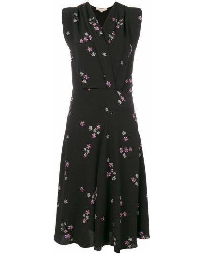 Платье миди с цветочным принтом с V-образным вырезом солнце Vanessa Bruno