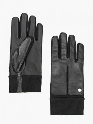 Черные кожаные перчатки Roeckl