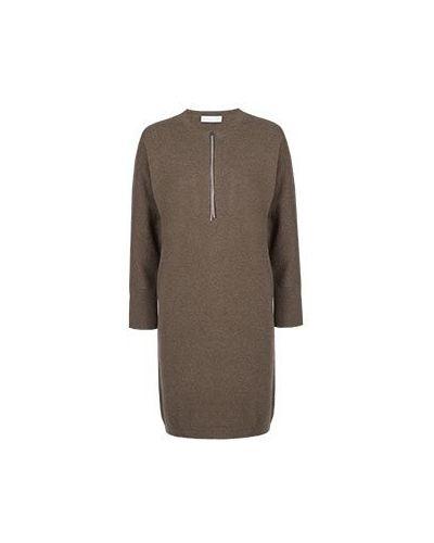 Повседневное платье шелковое из шерсти мериноса Fabiana Filippi