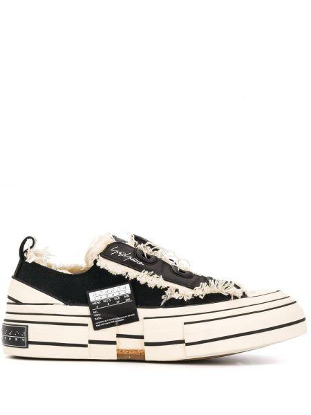 Sneakersy na platformie skórzane z logo Yohji Yamamoto