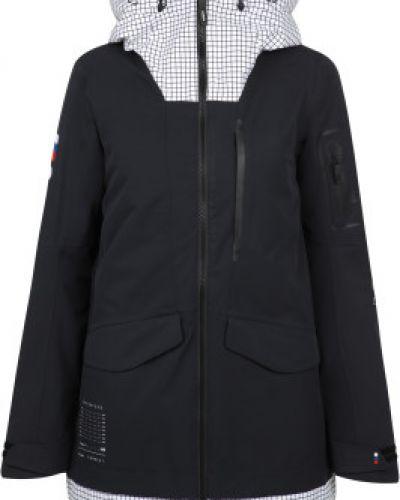 Прямая черная куртка с капюшоном мембранная Termit